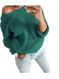 Sweter Nietoperz Butelkowa Zieleń