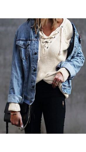 Sweter Over Beige