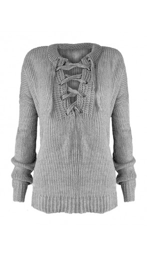 Sweter Over Grey