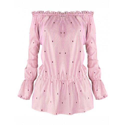 Bluzka Hiszpanka Biedroneczki Pink