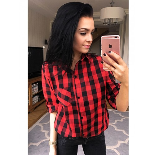 Koszula Krata Black&Red