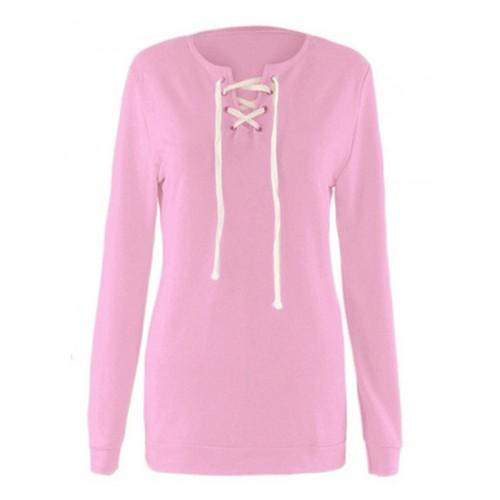 Bluza Sznurowana Pink