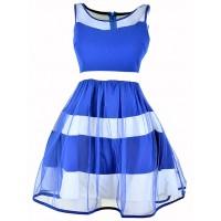 Sukienka Tiul Cobalt
