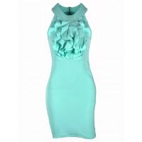 Sukienka Żabot Mint