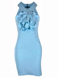 Sukienka Żabot Blue