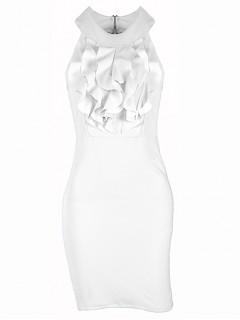 Sukienka Żabot White