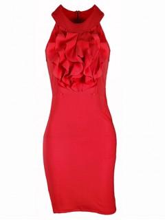 Sukienka Żabot Red