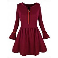 Sukienka Brooch Burgundy