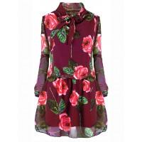 Sukienka Roses Burgundy