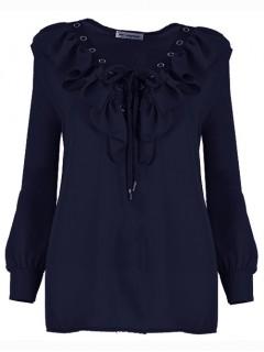Bluzka Wiązana Navy Blue