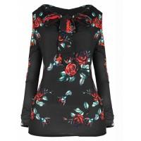Bluzka Roses Black