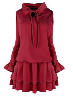 Sukienka Emi Bordowa
