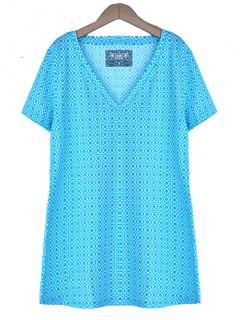 Bluzka Geometric Niebieska
