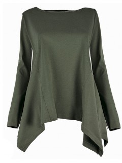 Bluzka Asymmetric Olive