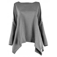 Bluzka Asymmetric Grey