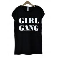 Koszulka Girl Gang Black