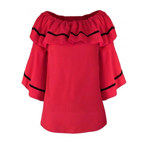 Bluzka Hiszpanka Flared Red