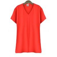 Bluzka V-neck Red