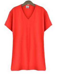 Bluzka V-neck Red