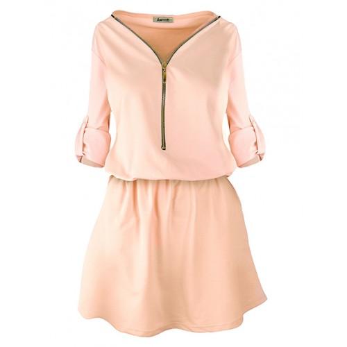Sukienka ZIP Peach