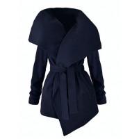 Płaszcz Flausz Navy Blue