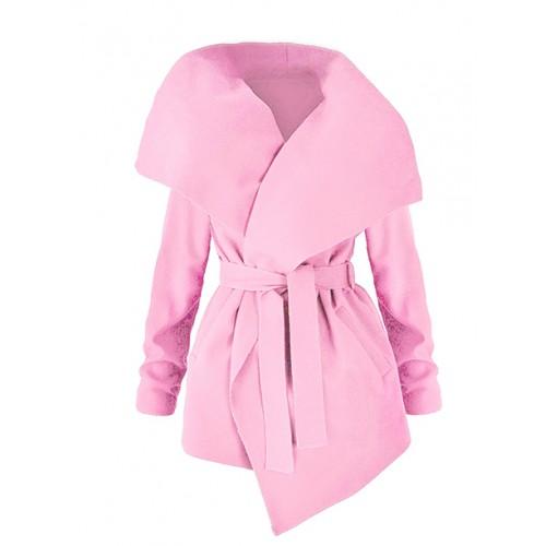 Płaszcz Flausz Wrap Pastel Pink