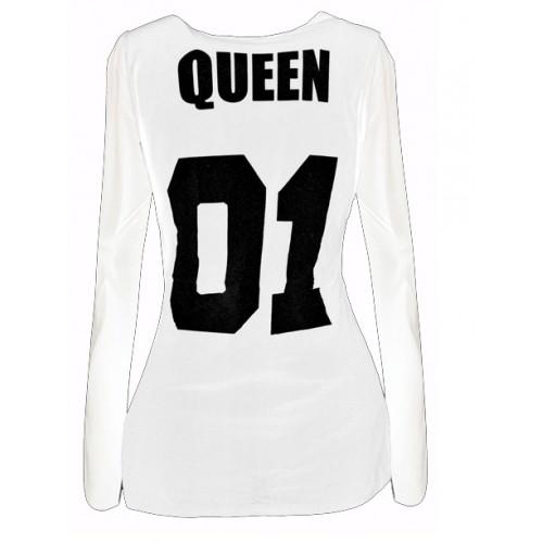 Bluzka Queen Biała