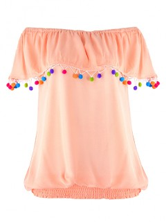 Bluzka Pomponiki Peach