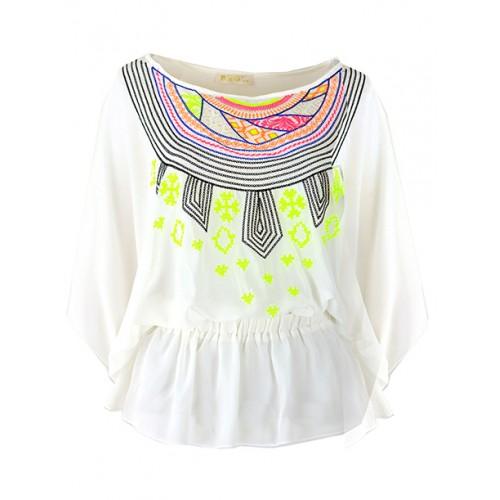 Bluzka Kimono White