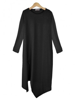 Bluzka Asymmetric Black