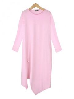 Bluzka Asymmetric Pastel Pink