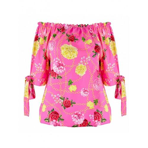 Bluzka Flowers Pink
