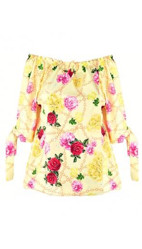 Bluzka Flowers Yellow