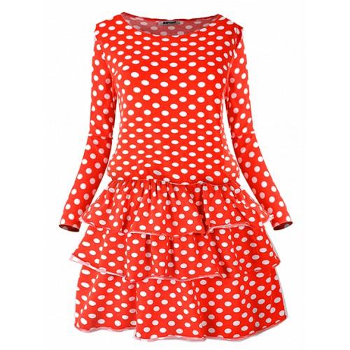 Sukienka Grochy Red Queen