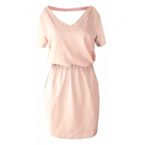 Sukienka V-neck Light Pink