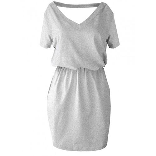Sukienka V-neck Melange