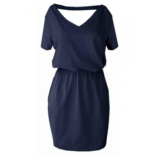 Sukienka V-neck Navy Blue