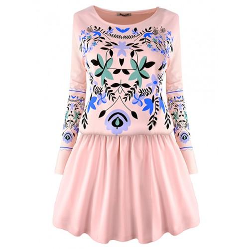 Sukienka Folk Pink