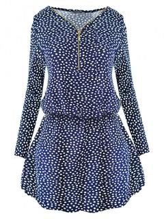 Sukienka Spots Navy Blue