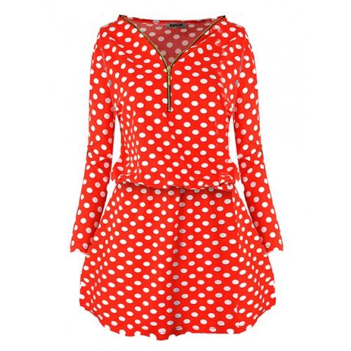 Sukienka Spots Red