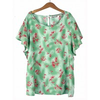 Bluzka Butterfly Denim Green