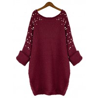Sweter Pearls Burgundy