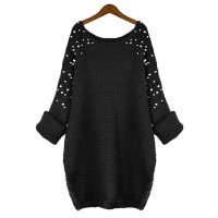 Sweter Pearls Black
