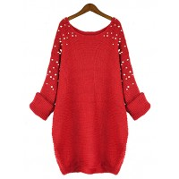 Sweter Pearls Red