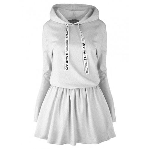 Sukienka Off White Grey