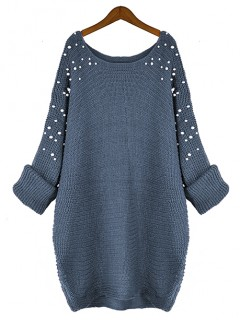 Sweter Pearls Denim