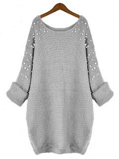 Sweter Pearls Grey