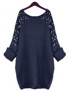 Sweter Pearls Navy Blue