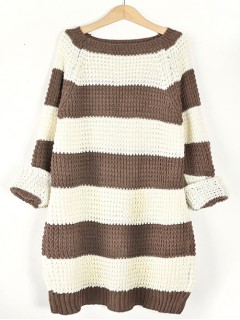 Sweter STRIPED Beige