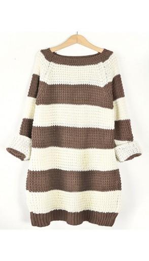 Sweter STRIPED Beige